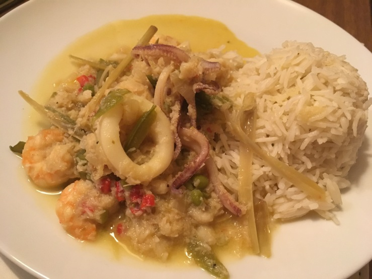 Seafood & Coconut Curry